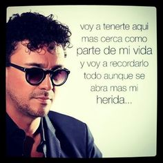 Andres Cepeda - Voy a Extrañarte Mirrored Sunglasses, Mens Sunglasses, Lyrics, Humor, Sayings, Heart, Same Love, Romantic Quotes, Pretty Quotes