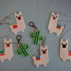 Des lamas et des cactus pour son anniversaire – Rose Caramelle – Carnet d'inspiration You are in the right place about Cactus terrarium Here we offer you the most beautiful pictures about the Cactus d Easy Perler Bead Patterns, Melty Bead Patterns, Perler Bead Templates, Diy Perler Beads, Perler Bead Art, Beading Patterns, Loom Patterns, Bracelet Patterns, Pearler Beads