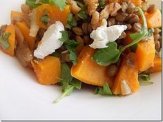 butternut squash lentil salad