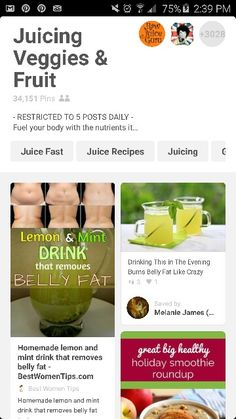 Juicing Veggies & Fruits Board ... (alot of detox juices and anti-aging juices, etc.) ... http://pin.it/Ylj-gRb
