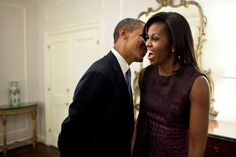 Barack and Michelle Obama - cute!