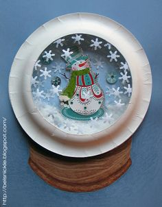 Snow Globe Craft With Paper Plates