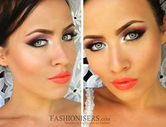 Summer Bright Makeup Tutorial  #makeup #summermakeup #brightmakeup