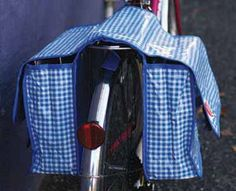 Gingham Check Panniers by Kitsch Kitchen $89 from Cycle Chic (AU online cycling store).
