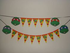 banner party decorations ninja turtle - Pesquisa Google