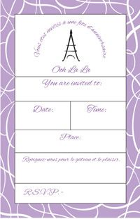 Thirty-one pages of free printables for a Paris-themed party from Heather B design