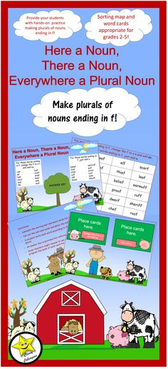 Noun Plurals, Sorting Mat Activity for Nouns Ending in -f Plural - Make A Survey In Word