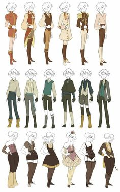 Clothes reference fantasy outfits, fantasy clothes, clothing sketches, fashion sketches, drawing tips Character Design Cartoon, Fantasy Character Design, Character Design References, Character Drawing, Character Design Inspiration, Cartoon Kunst, Cartoon Art, Drawing Reference Poses, Drawing Poses