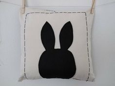 Fun bunny silhouette!  Cute idea to put on our socks, add a name too. Perfect for spring time.