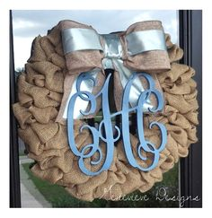 Baby boy burlap wreath- need to make before July!