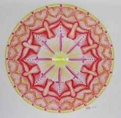 222 Symbols Mandala, by Miekrea NL - Nov. 2003 (used: crayons)