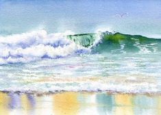 New Wave Seascape with breaking wave giclee - product images  of