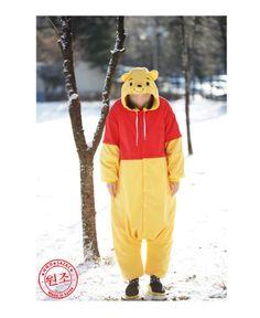 Disney Winnie the Pooh Adult Costume Kigurumi Pajamas Cosplay Onesie Authentic of DIsney XD