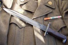 You're not bulletproof.S Garand Bayonet Cool Knives, Knives And Swords, Animal Sleeve Tattoo, M1 Garand, Blacksmithing, 6 Years, World War, Weapons, Guns