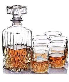 WHISKY Boxed NEW Round DECANTER // Wine Label Sterling Silver