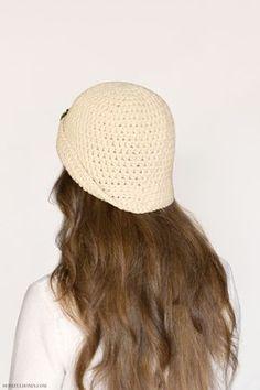 Ravelry: Great Gatsby Cloche Hat pattern by Olivia Kent Crochet Woman, Crochet Baby, Free Crochet, Sombreros Cloche, Cloche Hats, New Baby Crafts, Beyonce, Crochet Turban, Kardashian