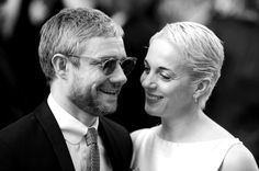 """My ideal man. As I sat watching I said to my friend: """"He's lovely, isn't he? I'd love to meet him."""" Then a couple of months later I did. - Amanda Abbington about Martin Freeman For years I've always known I wasn't the best actor in my house. So I think the fact that the industry is kind of catching up with that, I couldn't be more pleased for her. I'm her number one fan. - Martin Freeman about Amanda Abbington"""