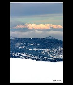 View of Mount Olympus from Pindos Mountains;  Mount Olympus is the highest mountain in Greece, and has 52 peaks;  by Nik Zach, via Flickr