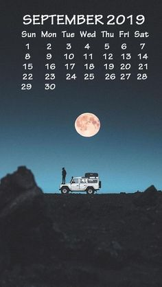 iPhone September 2019 Calendar Wallpaper