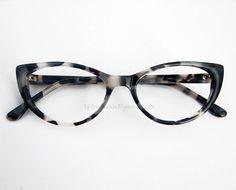 Shades of grey leopard tortoise pinup cat eye eyeglasses.