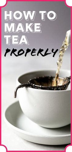 How to Make Tea Properly Making a perfect pot of tea is all in the details. Learn the proper way to make tea with my step-by-step instructions. Tea Etiquette, Tea Website, Perfect Cup Of Tea, Afternoon Tea Parties, Paleo, Tea Sandwiches, Brewing Tea, Best Tea, Tea Recipes