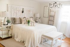 French Country Farmhouse Decor // Our Bedroom - Lynzy & Co.