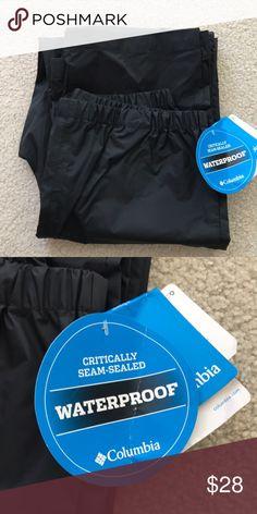 Columbia waterproof pants Black water/wind proof pants ***CHILD SIZE**** Columbia Pants