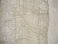 Erin Curry weave inspired by painter Agnes Martin