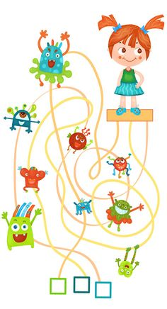 Quest pochschitay microbes by Olga Marsakova Les Microbes, Toddler Activities, Projects To Try, Coding, Lettering, Teaching, Children, Behance, Classroom