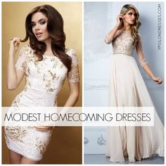 #Modest #Homecoming Dresses | Ypsilon Dresses I really like that one on the right.