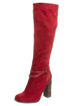 red high heeled boots