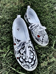 My first work, hand painted sneakers.