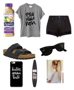 """""""Youth Group"""" by makennaanderman on Polyvore featuring Zone, Sincerely, Jules, rag & bone, Birkenstock, Ray-Ban and Maybelline"""