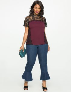 New Arrivals in Plus Size Fashion: The Latest Fat Girl Fashion, Hey Girl, Contemporary Style, Must Haves, Lace Trim, Plus Size Fashion, Capri Pants, Blouse, Fashion Trends