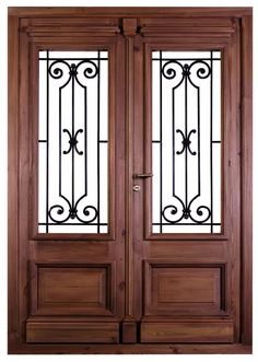 Great front door ideas for your home. Door Grill, Window Grill Design, Door Gate Design, Main Door Design, Iron Gates, Iron Doors, Porta Colonial, Door Design Images, Traditional Front Doors