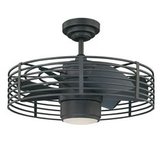 Shop Kendal Lighting Enclave 23-in Natural Iron Downrod Mount Ceiling Fan with Light Kit and Remote Control (7-Blade) at Lowes.com