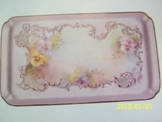 Helen Humes China Painting Study 56 Wild Roses Cake Plate Color 2 Page | eBay