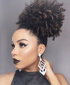 curly afro ponytail - HD 1000×1226