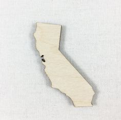 California State Wood Cut Shape Shape Unfinished Wood California Laser Cut Shape DIY Craft Supply Many Size Options