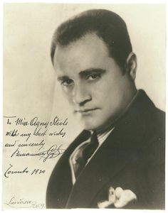 Beniamino Gigli, looking mighty handsome right here, oh my!