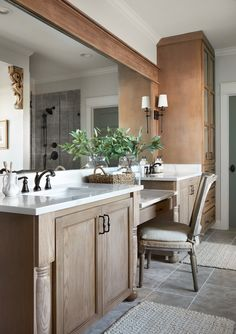 Home Remodeling Bathroom Episode 13 - The 'A Lot of Options' House - Magnolia Market - Loved the custom home in episode Browse pictures of the unique grandkids' playroom, rustic modern kitchen, and wood beams to inspire your own home decor. Bathroom Renovations, Home Remodeling, Master Bath Remodel, Modern Farmhouse Bathroom, Up House, Wood Vanity, My New Room, Home Decor Bedroom, Bedroom Rustic