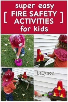 Whether you are in the classroom or at home, you should talk about fire safety with your kids! Here are three fun activities from LalyMom that will help to explain what to do in case of a fire. By using these activities your kid will understand better what firefighters do. Talk with children about fire safety and have fun with them at the same time with these fun learning activities. Fire Safety Crafts, Fire Safety For Kids, Child Safety, Learning Activities, Family Activities, Preschool Activities, Babysitting Activities, Toddler Learning, Fun Learning