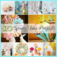 20 Simple Spring Time Projects...such cute ideas here, I love all of the Spring colors!!