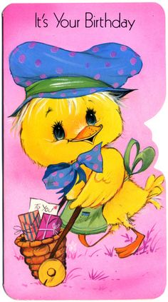 Vintage greetings card - It's your birthday by Dilys Treacle Treasures, via Flickr