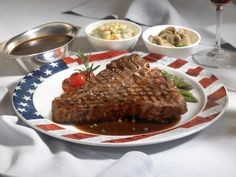 Crown Grill -- Porterhouse steak. Princess cruises food is top notch.