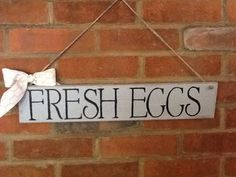 Fresh egg sign