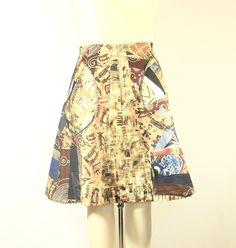 Patchwork African Print Skirt