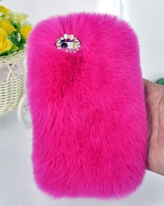 Plush Soft Leather Case cover For Iphone 5 5s 5c 4 4s bling Diamond Elegant Case
