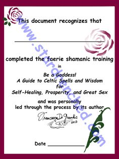 I am about to facilitate a group for working through my faerie shamanic book, Be a Goddess! Every participant is welcome to phone me with questions a couple of times during the course of the group.