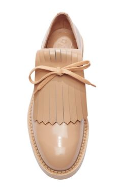 Polished-Leather Brogues by Marni - Moda Operandi